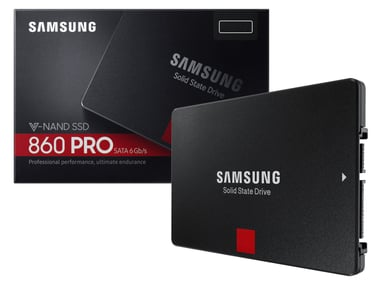 "Samsung 860 PRO MZ-76P1T0B 1,000GB 2.5"" Serial ATA-600"