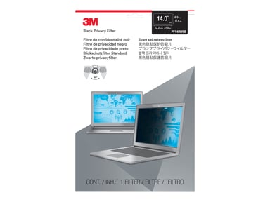 "3M Personvernfilter for bærbar datamaskin med 14"" widescreen 14"" 16:9"