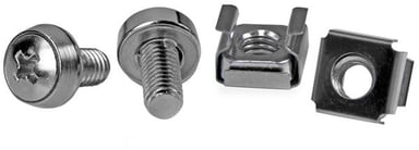 Startech 50 Pkg M6 Mounting Screws and Cage Nuts for Server Rack Cabinet null