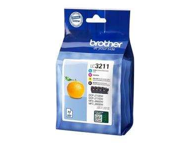 Brother Bläck Kit (BK/C/M/Y) LC-3211VALDR - DCP-J772DW/DCP-J774
