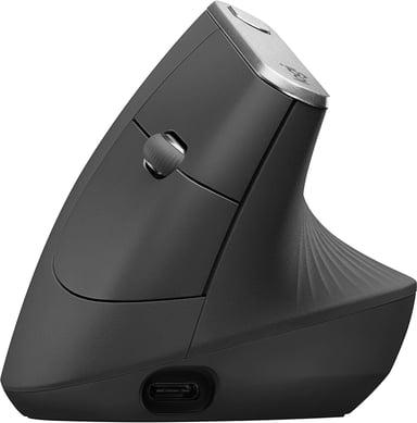 Logitech MX Vertical 4,000dpi Verticale muis Draadloos Met bekabeling Zwart