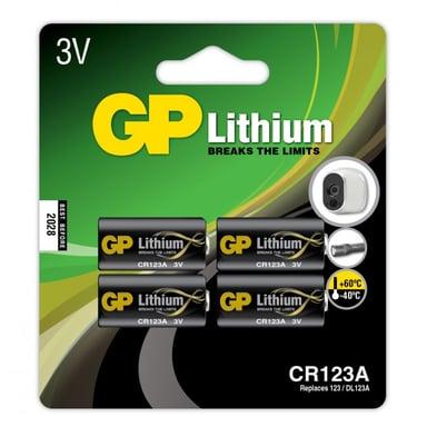 GP Batteri Lithium CR123A-C1 3V 4-Pack null