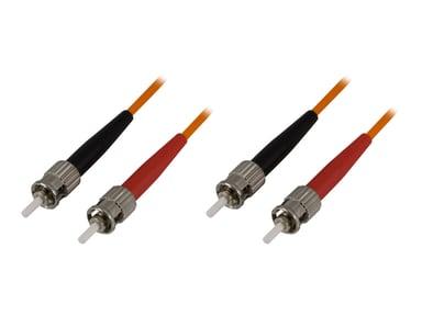 Deltaco Netværkskabel ST/UPC ST/UPC OM1 0.5m 0.5m