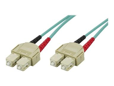 Deltaco Nätverkskabel SC/PC SC/PC OM3 0.5m 0.5m