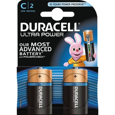 Duracell Batteri Ultra Power C 2st null