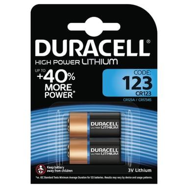 Duracell Batteri Ultra Photo CR123A 2st