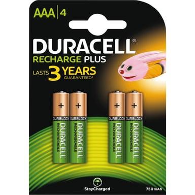 Duracell Batteri Laddbara Plus AAA 750mAh 4st
