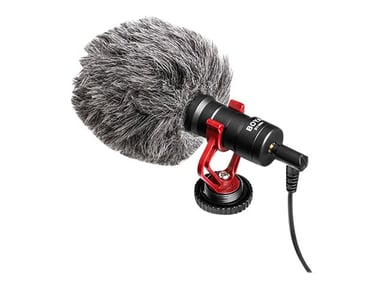 Boya BY-MM1 Condensator Microphone For Cameras Grå Svart