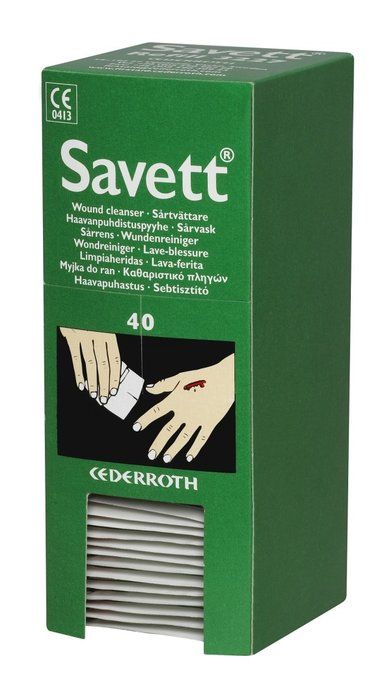 Cederroth Savett Refill 3227 Wound Cleaning 40pcs/fp null