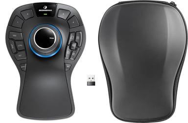 3DConnexion Spacemouse Pro Wireless 3D-muis Draadloos Zwart
