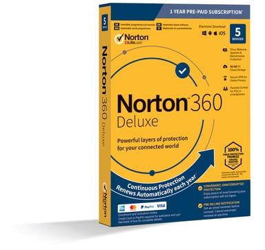 NortonLifeLock Norton 360 Deluxe 5 enheter 1 år Antivirus 2019 null