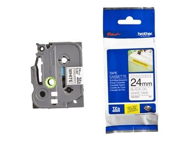 Brother Tape TZE-S251 24mm Sort/Hvid Stark