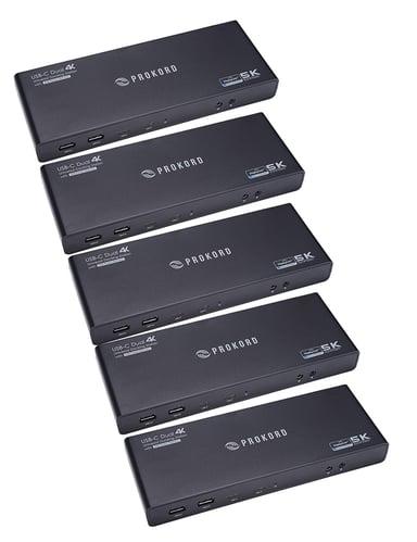 Prokord Workplace Charging Dockingstation 5K Dual Monitor 5-PCS USB-C Portreplikator