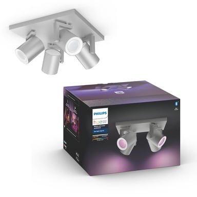 Philips Hue Argenta White/Color 4x5,7W Silver