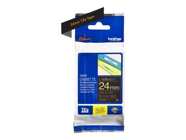 Brother Tape Tygband 24mm TZe-R354 Guld/Svart