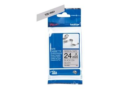 Brother Tape Tygband 24mm TZe-R951 Svart/Ljusgrå