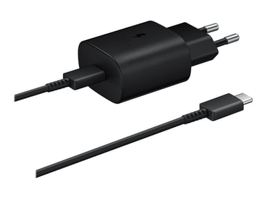 Samsung Wall Charger 25W + USB-C Cable 1m Musta
