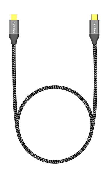 Cirafon USB-C kabel USB certified (60W) 1.8m 24-stifts USB-C Hane 24-stifts USB-C Hane