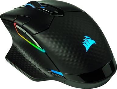 Corsair Gaming DARK CORE RGB PRO SE 18,000dpi Mus Kablet Trådløs Svart