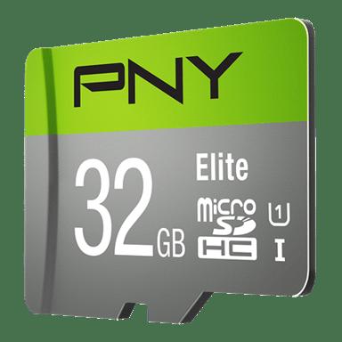 PNY Elite 32GB microSDHC UHS-I Memory Card