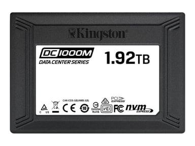 "Kingston Data Center DC1000M 1,920GB 2.5"" U.2 PCIe 3.0 x4 (NVMe)"