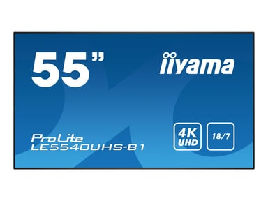 """Iiyama ProLite LE5540UHS-B1 55"""" 350cd/m² 4K UHD (2160p) 16:9"""