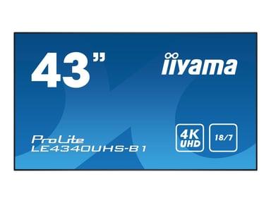 """Iiyama ProLite LE4340UHS-B1 43"""" 350cd/m² 4K UHD (2160p) 16:9"""