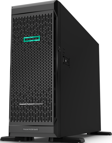 HPE ProLiant ML350 Gen10 - 48GB RAM, 2x240GB SSD, redundant power Xeon Silver 10-kärnig 48GB