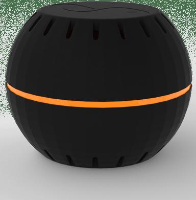 Shelly WiFi termometer och luftfuktighetssensor svart