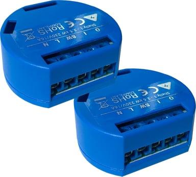 Shelly 1 WiFi enkanalig fjärrströmbrytare för inbyggnad 2-pack