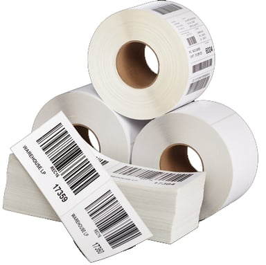 Zebra Labels Z-Select 2000T 101.6x152.4mm Coated Perf 4-Pack