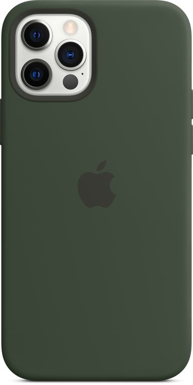 Apple Silicon Case with MagSafe iPhone 12 Cyprus-groen