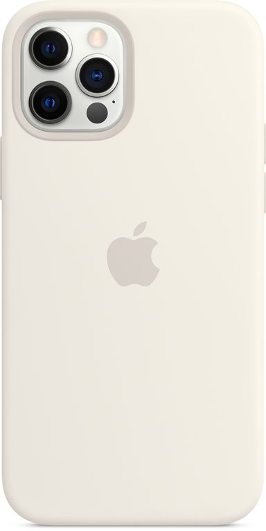 Apple Silicon Case with MagSafe iPhone 12 iPhone 12 Pro Hvid