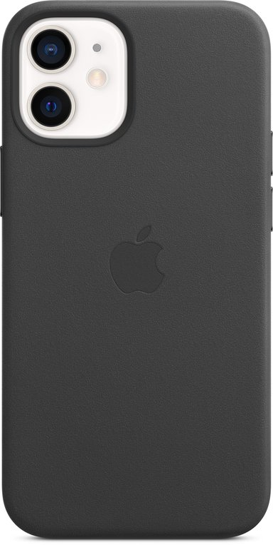 Apple Leather Case with MagSafe iPhone 12 Mini Zwart