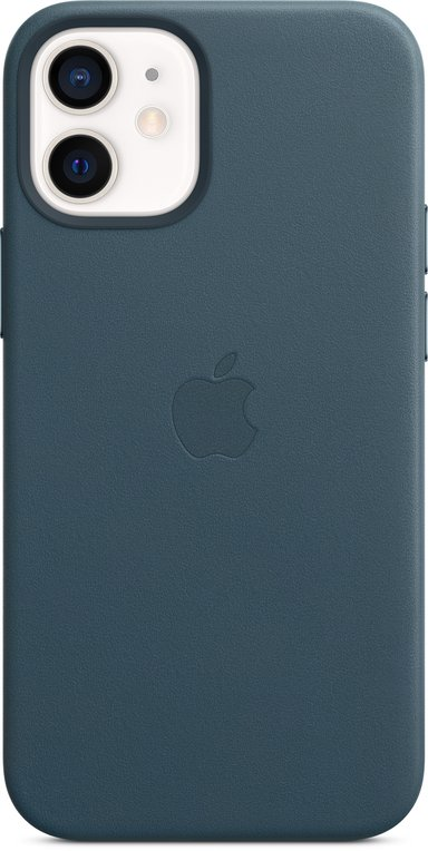 Apple Leather Case with MagSafe iPhone 12 Mini Baltisch blauw