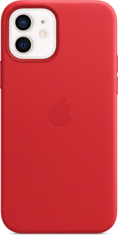 Apple Leather Case with MagSafe iPhone 12 Product (RED)