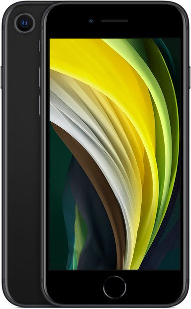 Apple iPhone SE (2020) 128GB Sort