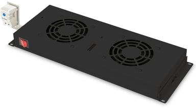 """Digitus Ventilation för rack 1U 19"""" Svart"""