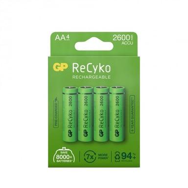 GP Batteri ReCyko 4st AA 2600mAh Laddbara