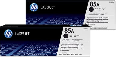 HP Toner Svart 85A 1.6K - CE285AD 2-Pack