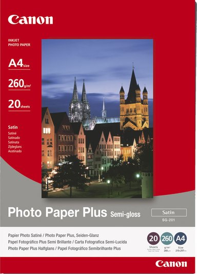 Canon Papper Photo Semi Glossy Sg-201 A4 20-ark 260G