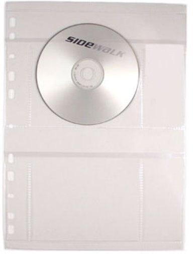 Sidewalk CD Case A4 Sheets/Pärm For 4 Pcs CD 50-Pack