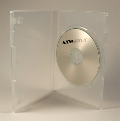 Sidewalk DVD Case Box Hq For 1st DVD Transparent 104-Pack