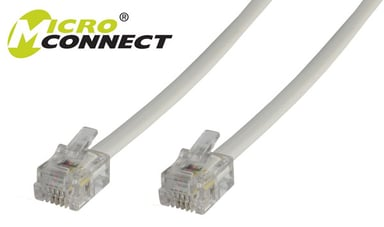 Microconnect Modular 2m RJ-11 (6 pin) Hann RJ-11 (6 pin) Hann