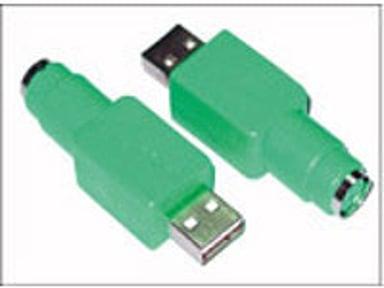 Microconnect Adapter 4 pin USB Type A Han 6 pin mini-DIN (PS/2 stil) Hun