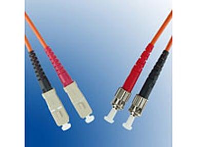 Microconnect Fiberoptisk kabel SC/UPC ST/UPC OM1 0.5m 0.5m