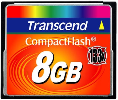Transcend Flash memory card 8GB CompactFlash-kaart