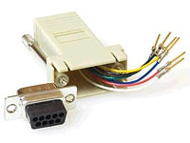 Microconnect Seriell Adapter 9 pin D-Sub (DB-9) Hona RJ-45 Hona