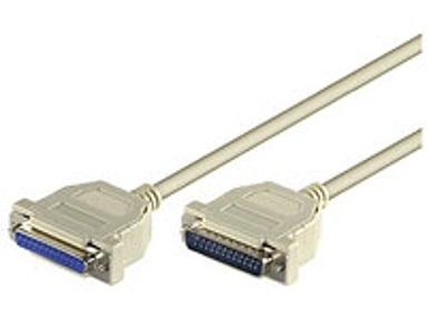 Microconnect Seriell/Parallell Kabel 3m 25 pin D-Sub (DB-25) Hane 25 pin D-Sub (DB-25) Hona