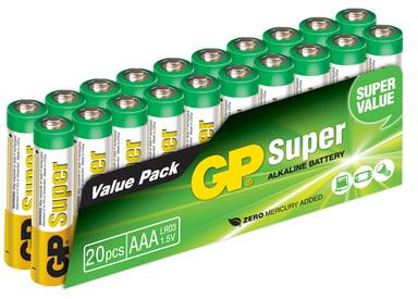 GP Super Batteri Alkaline 20 stk. AAA/LR03 - 1,5V